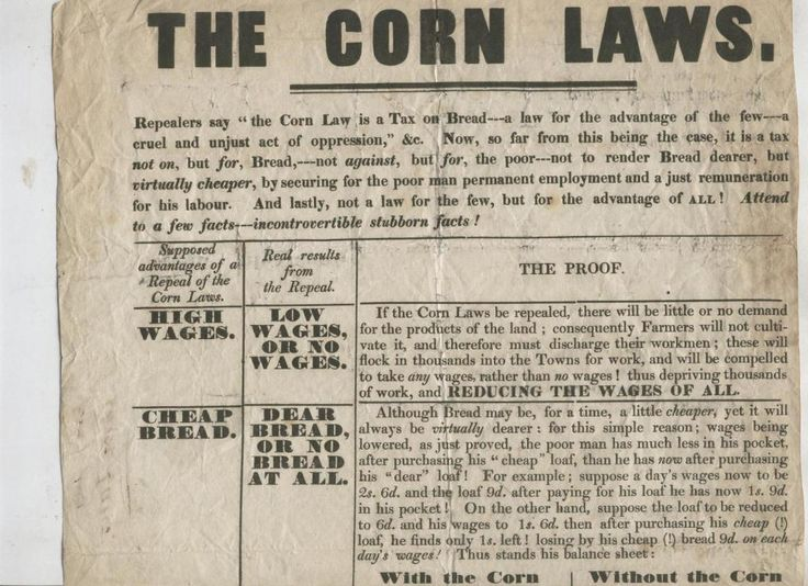 why were the corn laws repealed Why the 1815 corn laws were necessary, and why circumstances conspired to force the repeal of 1846 david eastwood | published in history review issue 25 september 1996 to read this article in full you need to be either a print + archive subscriber, or else have purchased access to the online archive.