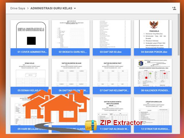 File-File Berkas Administrasi Guru dalam 1 file