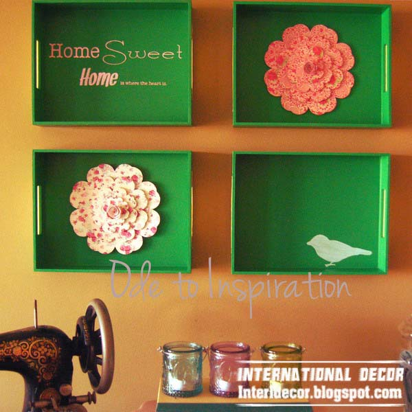 Serving Trays On The Wall 24 Unusual Wall Decor Ideas