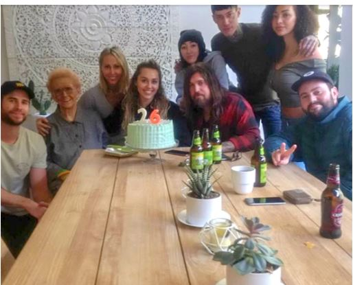 Miley, Bill cyrus and the entire family