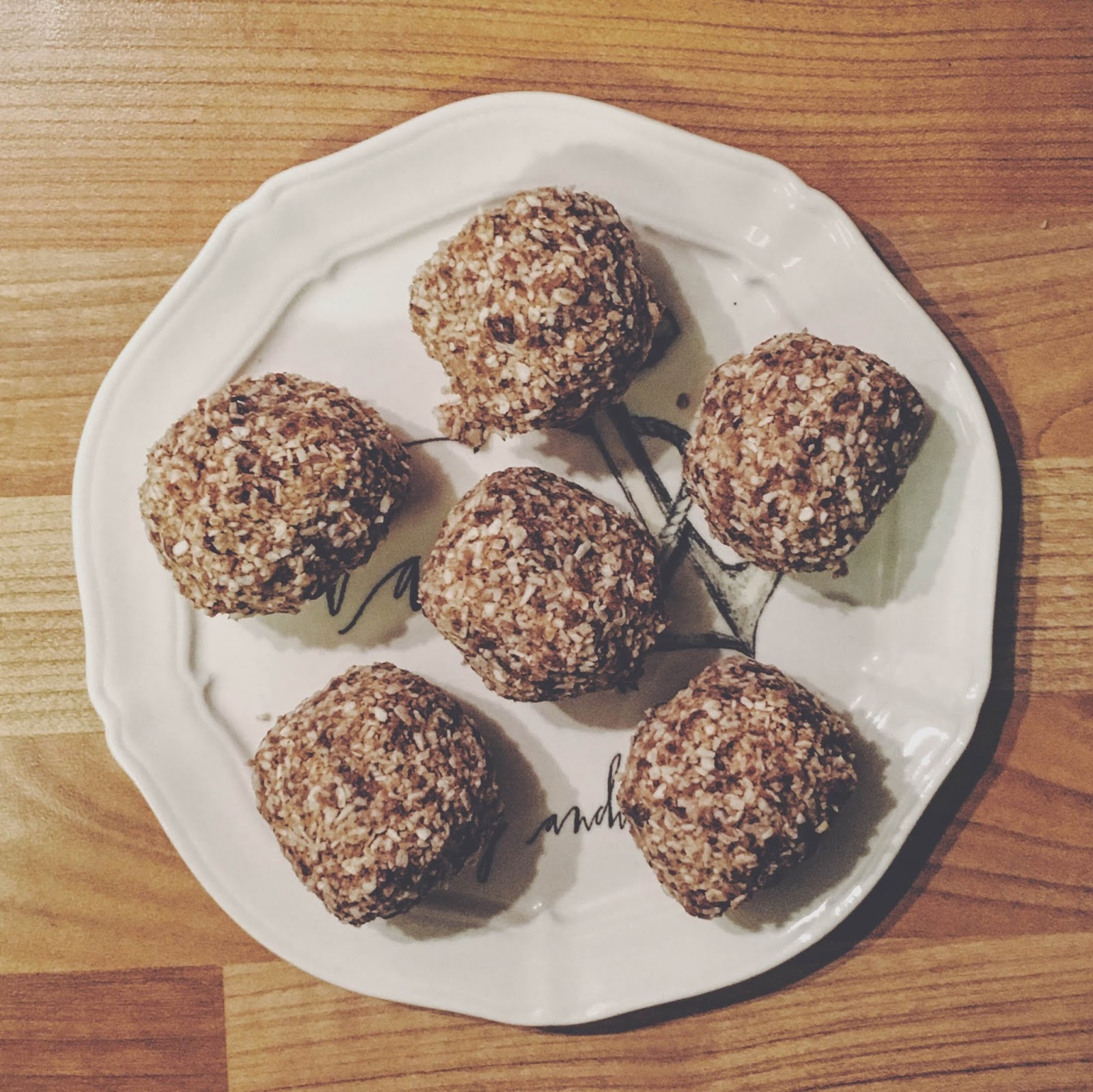 Alice Barnes' post workout protein ball recipe