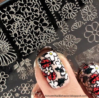 Lady bug nail decal