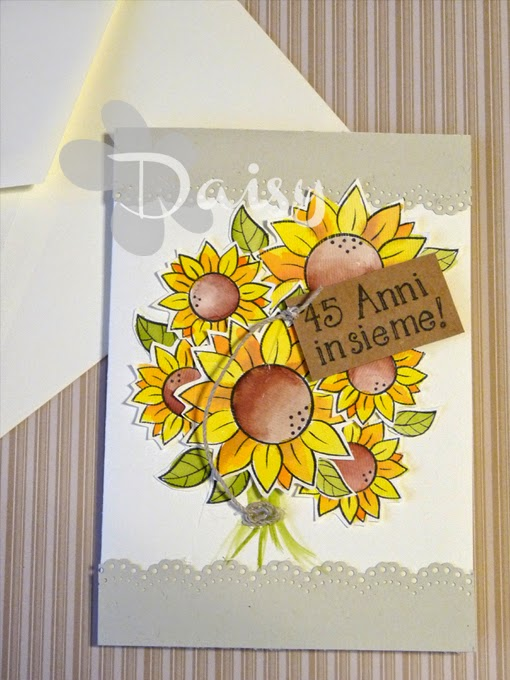 Biglietti Di Auguri Per Anniversario Di Matrimonio.Daisy Handmade Biglietto Di Auguri Per Anniversario Di Matrimonio