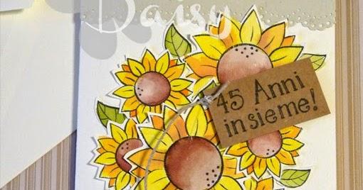 Anniversario Matrimonio 45 Anni.Daisy Handmade Biglietto Di Auguri Per Anniversario Di Matrimonio