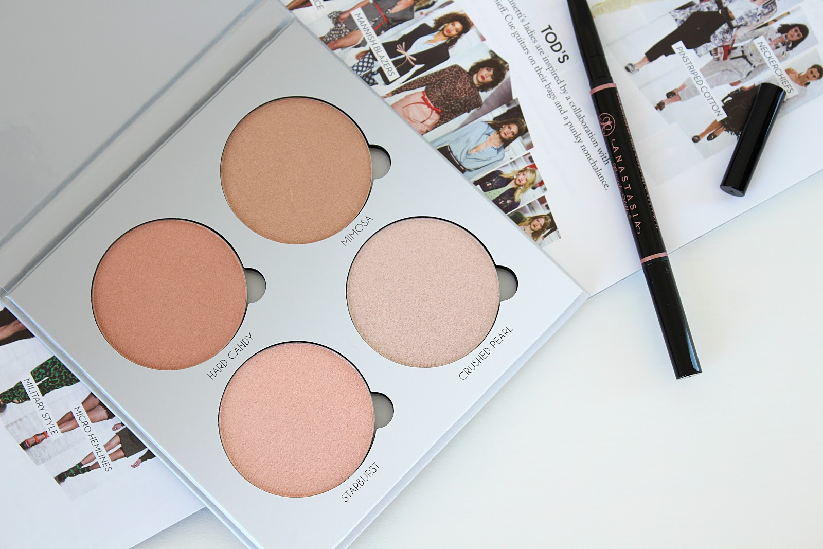 Anastasia Beverly Hills Glow Kit in Gleam and Brow Definer Swatches and Review
