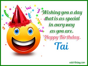 Happy Birthday Tai