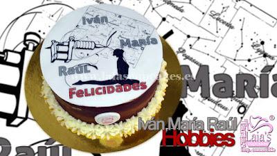 Tarta de fondant personalizada impresión comestible Laia's Cupcakes Puerto Sagunto