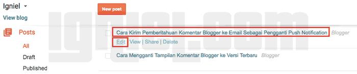 Cara Mengubah Permalink Blogger yang Sudah Terlanjur Diterbitkan Tanpa Kehilangan Traffic Cara Buat Blog- Mengubah Permalink Blogger yang Sudah Terlanjur Diterbitkan Tanpa Kehilangan Traffic
