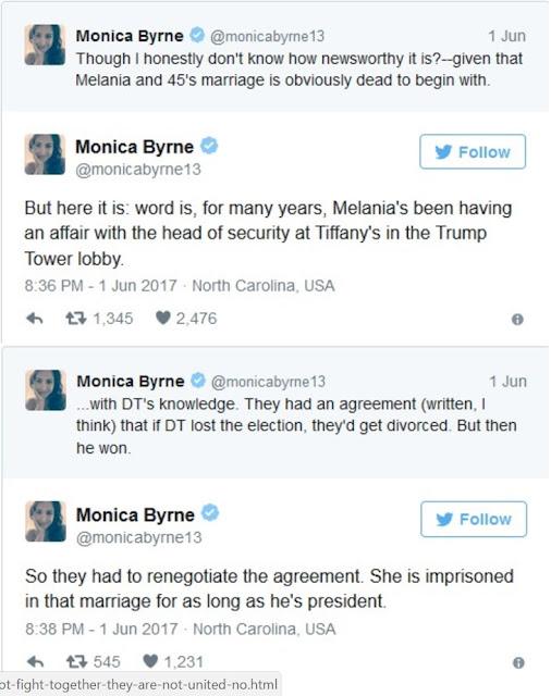 Shocking! Popular Writer Accuses Melania of Cheating on President Trump