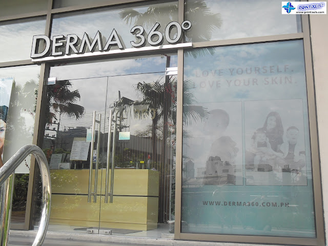 Frosted Stickers - Derma 360, Rockwell, Makati