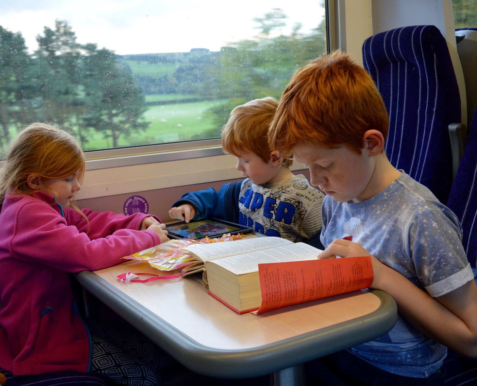 Great Days Out with Northern  | Our Day Trip to Carlisle by Train - Northern train seat with table