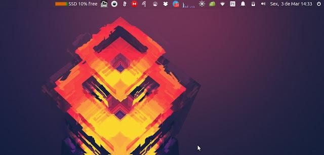 Ubuntu barra superior transparente