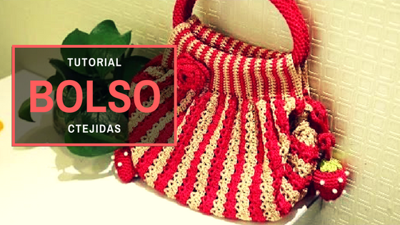 "Tutorial #184: Bolso ""Sandía"" a Ganchillo - Vídeo Paso a Paso"