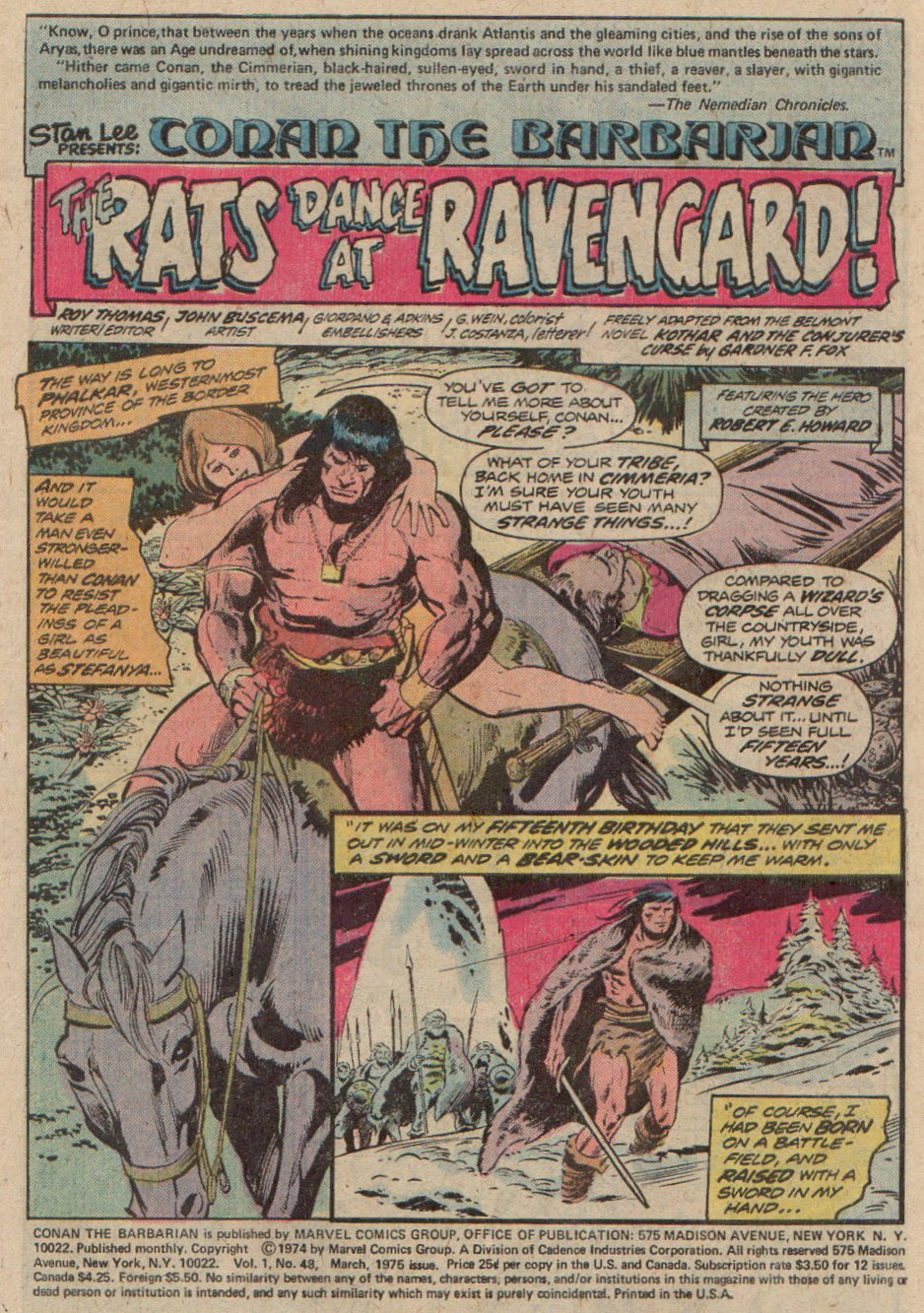 Conan the Barbarian (1970) 48 Page 1