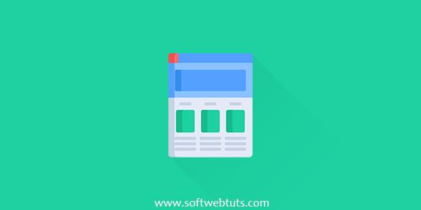 Flat Navigation Menu - CSS + HTML + JQuery