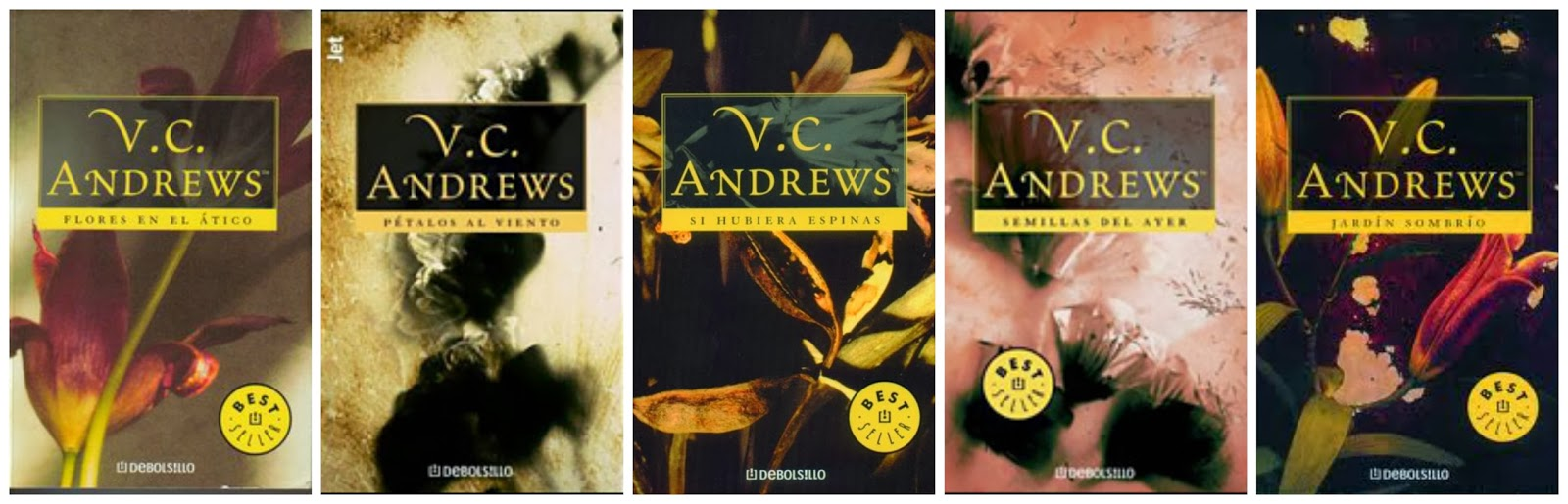 Dollanganger Vc Andrews 5 Book Set Collection Flowers In The Attic