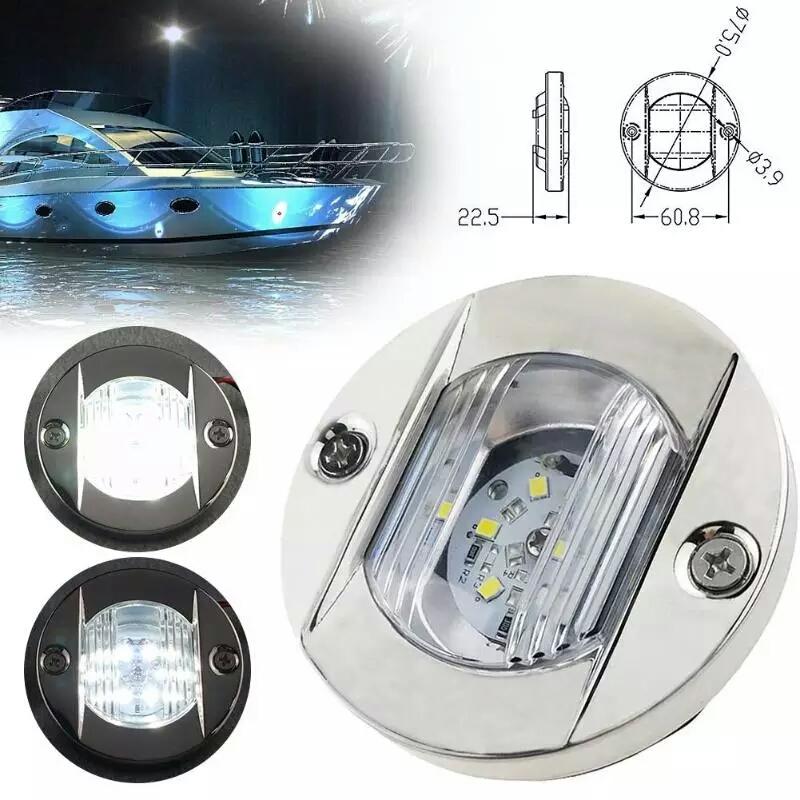 Luz de navegaci/ón popa del ancla impermeable del acero inoxidable LED del travesa/ño del travesa/ño del barco 12V