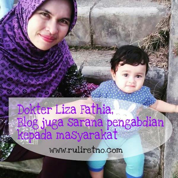 Liza Fathia, jadikan Blog sebagai sarana pengabdian kepada masyarakat