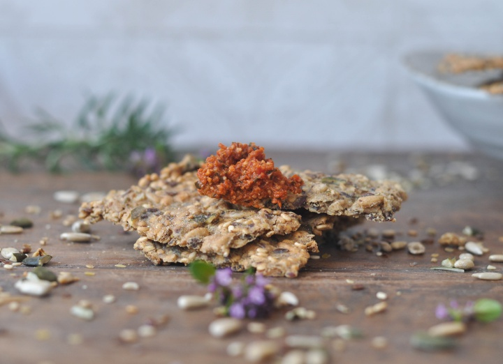 Cracker with seeds and rosemary - and they're gluten free, too!