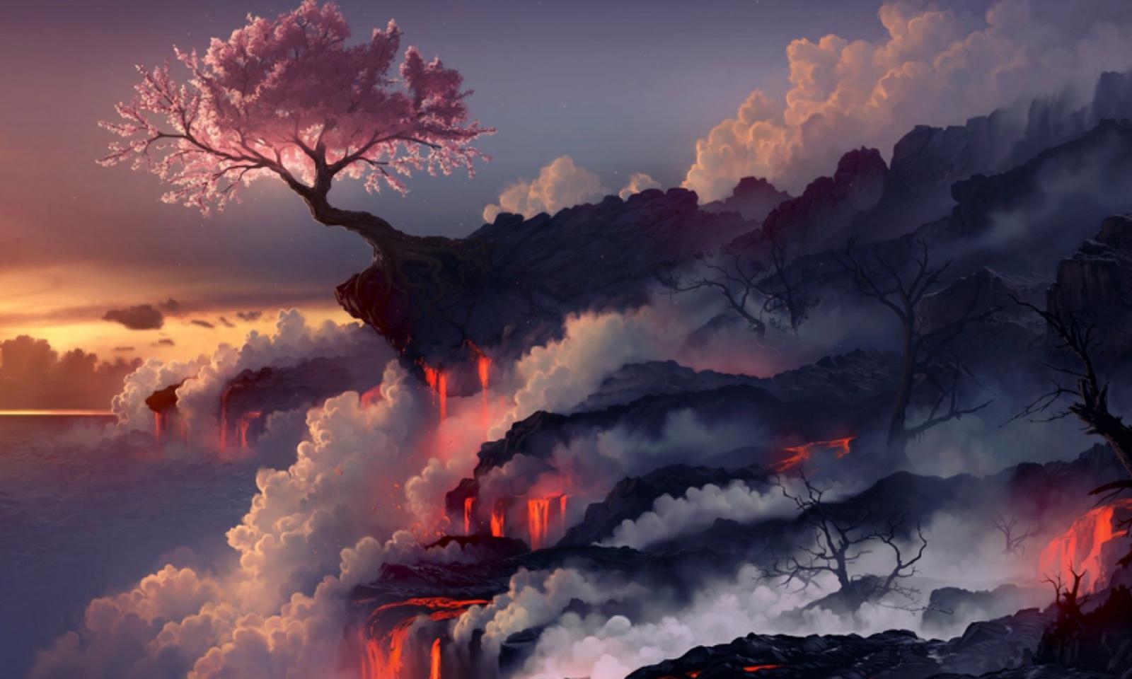 Weird Wallpaper Center: Volcano Wallpaper | Explosion ...