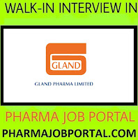 Gland Pharma Limited Walk In Interviews at 21 November Apply Here