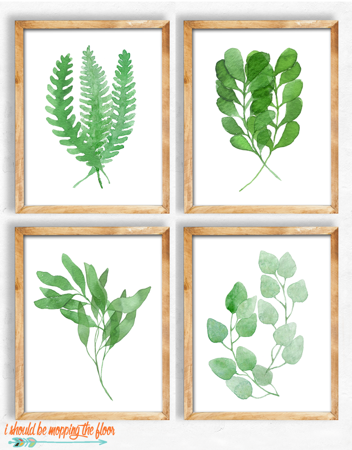 Free Leaf Watercolor Printables