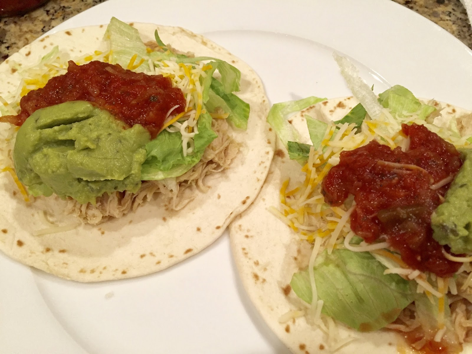 Crockpot salsa verde chicken tacos i use the term recipe loosely there are 3 ingredients this is a super easy weeknight meal and it serves enough for a family or you can have leftovers forumfinder Gallery