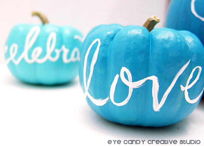 hand painted love on pumpkin, celebrate, painted pumpkins, thnaksgiving