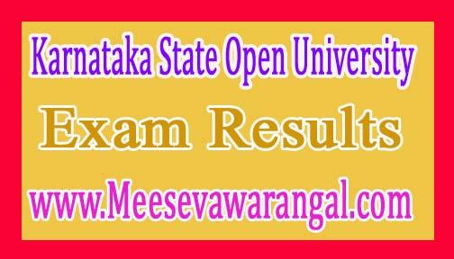 Karnataka State Open University B.Com 1st Year Aug 2016 Exam Results