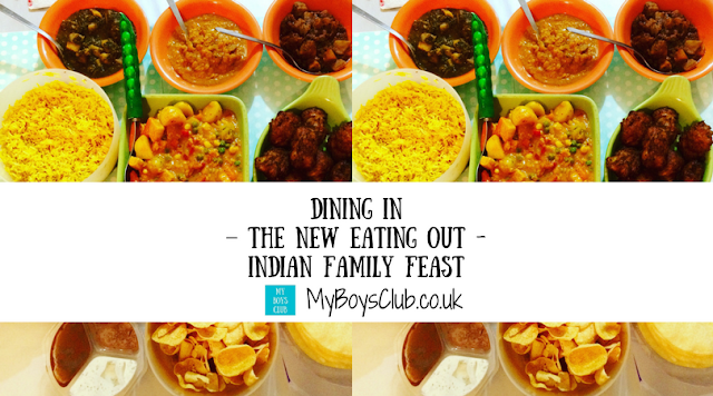 Dining in is the new eating out - My Boys Club enjoy an Indian Style Family Feast together.