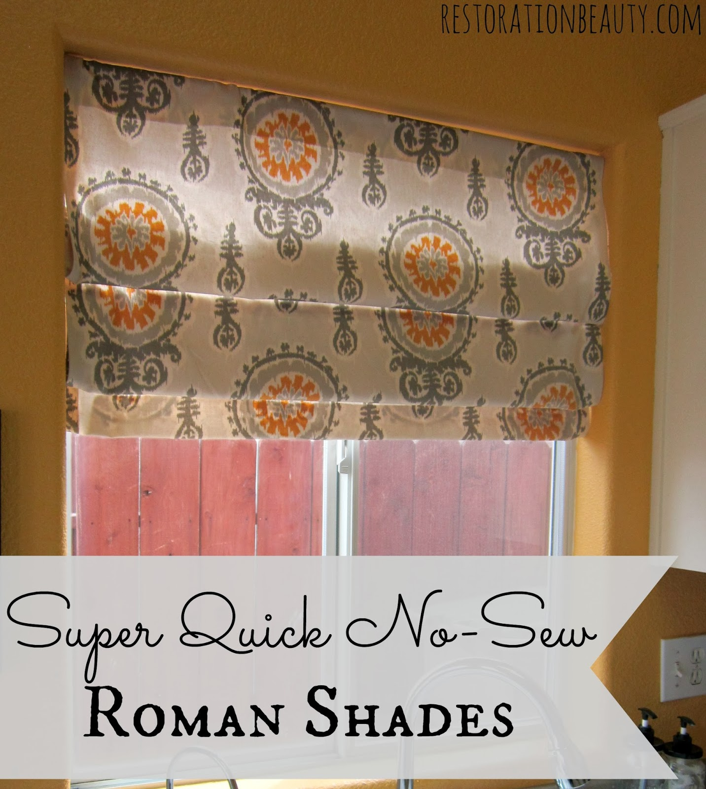 Diy Roman Shades Easy Restoration Beauty Super Quick No Sew Roman Shades