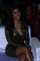 Pooja Hegde looks glamarous in deep neck sleevless short tight golden gown at Duvvada Jagannadham thank you meet function 032.JPG