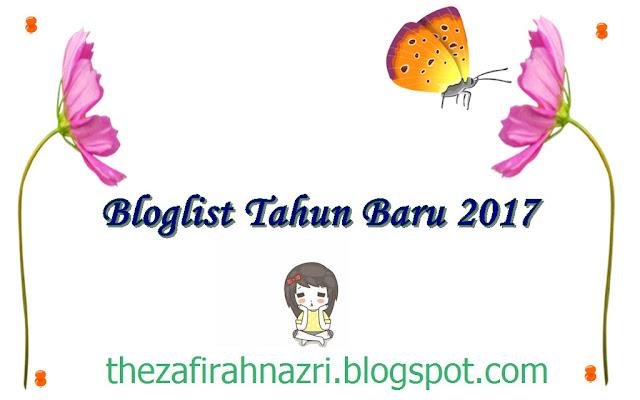 Bloglist tahun baru 2017.
