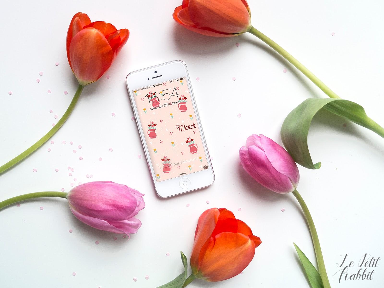 Sfondo Gratuito Smartphone Marzo 2016 Le Petit Rabbit
