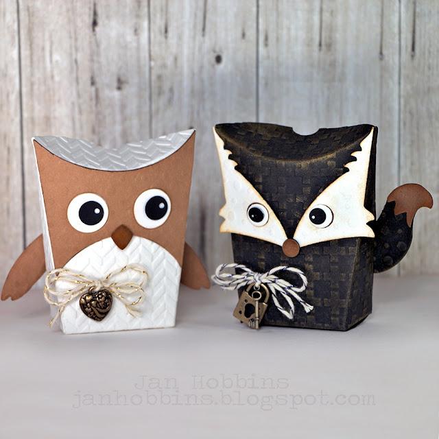 Sizzix Fox Tales Owl And Fox Box Thinlits Dies