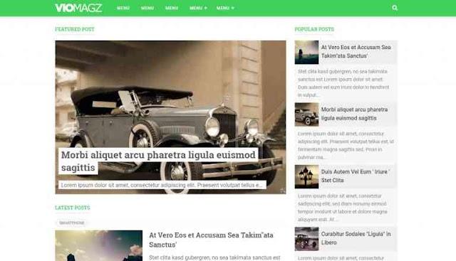 VioMagz Blogger Premium Templates