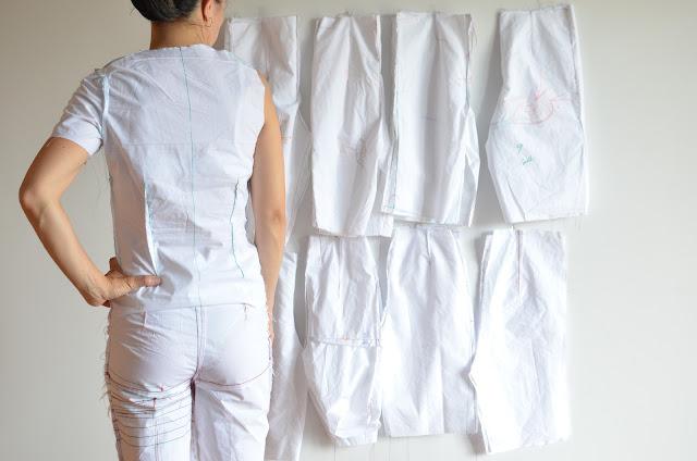 Patronaje - base de cuerpo y pantalón