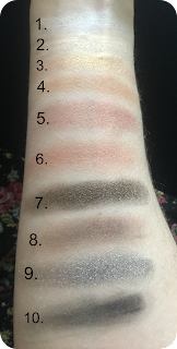 next make me beautiful perfect look eyeshadow palette swatch