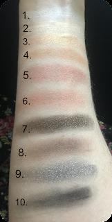 next make me beautiful perfect look eyeshadow palette swatch