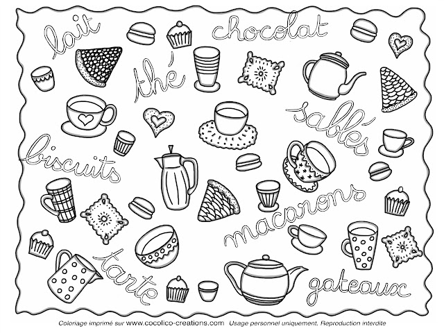 Cocolico creations coloriages - Dessin gouter ...