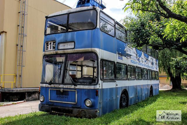 piętrowy autobus linii numer 1 w Lubinie