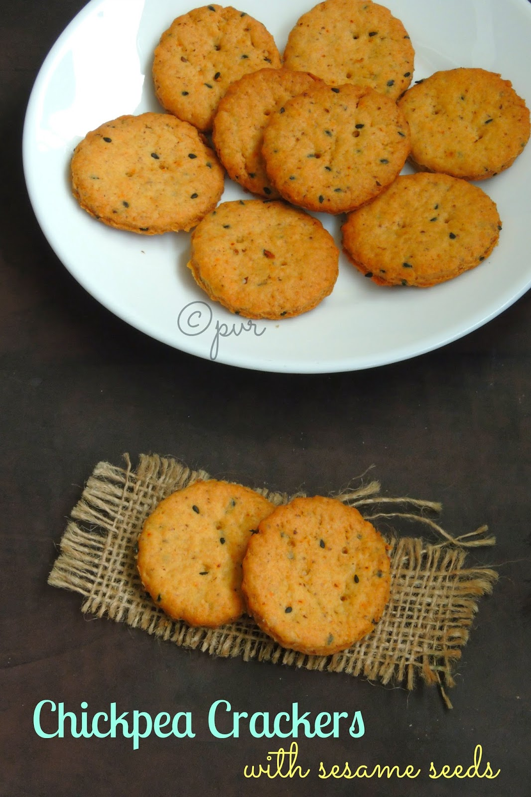 Chickpeas crackers, vegan chickpea crackers