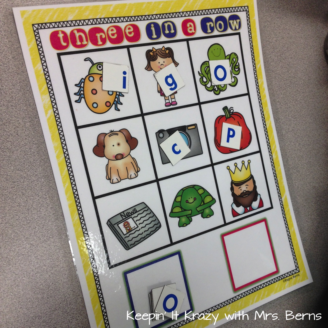 Worksheet Beginning Rhyming Words keepin it krazy literacy centers beginning sounds rhyming cvc another sound center we are working on is say clip they choose five cards at a time and the beginning