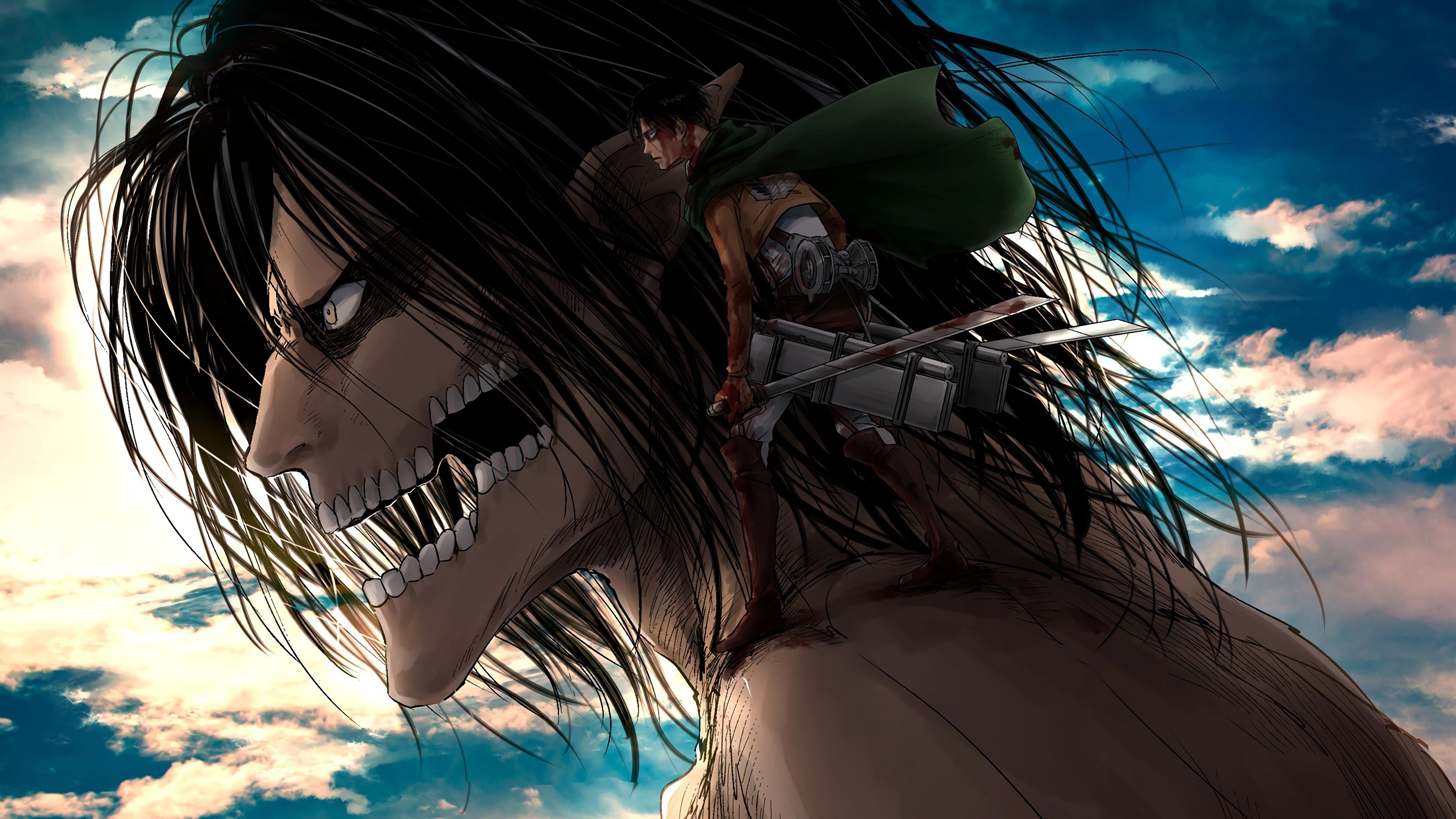 Attack Titan And Levi Attack On Titan 4k Wallpaper 170