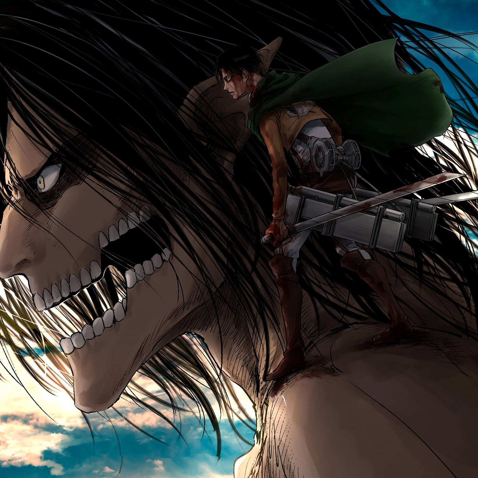 Fancy up your phone's homescreen with the samsung galaxy z fold 2 wallpapers. Attack Titan and Levi, Attack on Titan, 4K, #170 Wallpaper