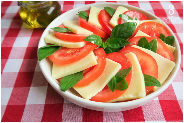 como fazer salada caprese
