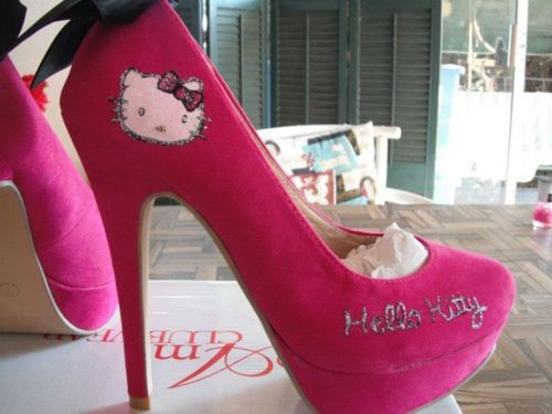 838fa3c9461 Stiletto High Heels: Girly Hello Kitty Pink Shoes 2012