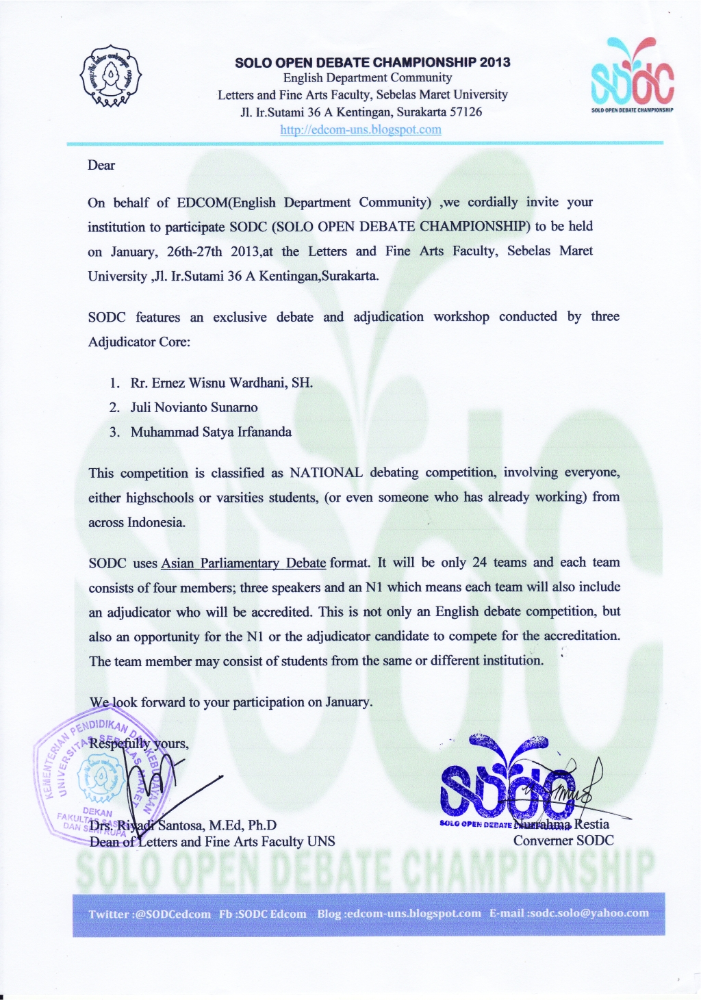 Invitation Letter For Debate Competition - Letter GiftWatches CO