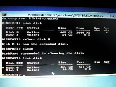 Cara Mengatasi Hardisk GPT Partition pada saat Instalasi Windows