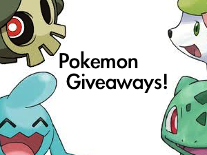 Pokemon Giveaway November